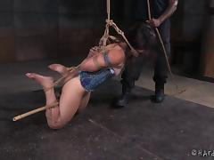 Giving her pussy what it deserves during the rough BDSM adventure