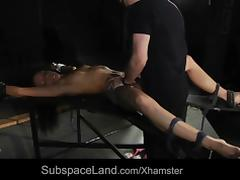 Slave bad attitude painful reaction to bdsm punishment fuck