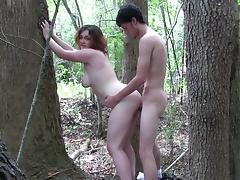 Young Slut Fucks and Sucks Outdoors part1