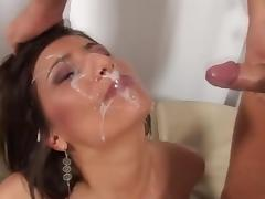 MILF With Huge Tits Gets Huge Facial