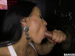 she wants that black cum in her mouth