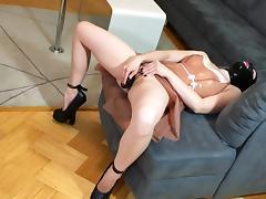 Masturbation, Boots, Dildo, Extreme, Heels, Latex