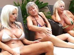 Kinky, Granny, Group, Interracial, Kinky, Mature