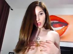 CuteHerminie: Perky Romanian girl gets naked and oils herself