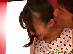 Japanese babe squirting while fingered