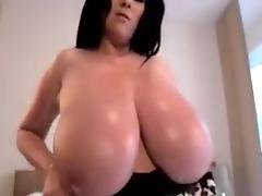 Busty Rachel Showing Off Huge Natural Tits