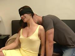 Housewife, Blindfolded, Brunette, Couple, Doggystyle, Fetish