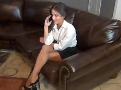 Hot Pantyhose Footjob