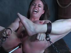 Chained, Babe, BDSM, Brunette, Chained