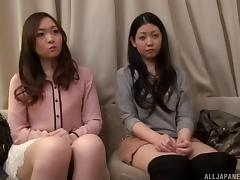 These attractive Japanese ladies are ready to have group sex