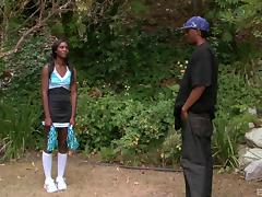 Black goddess Bonnie Amor knows what's in store for her pink beaver