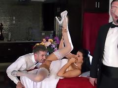 Bride, Big Tits, Blowjob, Bride, Brunette, Cumshot