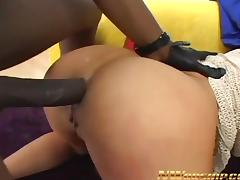 hot slut sucking deepthroat big black cock interracial anal