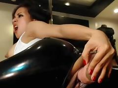 Asian-Big Dildo, Great Ass! Nov 2016