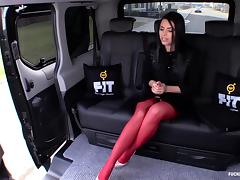 Fucked In Traffic - Russian babe Kira Queen fucks in the car