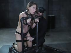 Tight anal screwing while slave is tortured mercilessly