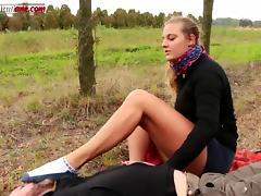 The Voyeur Ep1 Part 1 - Trampling in the Outdoor