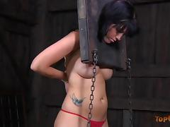 Attractive Tricia goes through the most painful session of her life