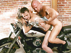 Chad Brock & Damon Dogg in Damon Dogg And The Cum Hole Cruisers Scene 3 - Bromo