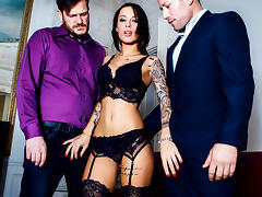 Nikita Bellucci, Freddy Fox, Yanick Shaft in A French Affair,  Scene 1 - DigitalPlayground