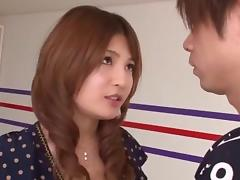 Stunning Japanese looker Yuria Kiritani likes riding on hard cocks