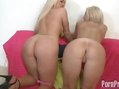 Blonde seductive nice ass tempting for hardcore drilling in group sex