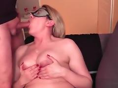 touching tits and spermed over it