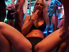 Alexa Tomas loves to get into a group banging with her best friends!