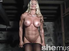 Muscular Female Bodybuilder Jill Jaxen