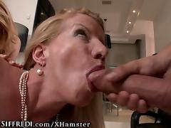 RoccoSiffredi Intense Orgy with HUGE Cock and Cougar