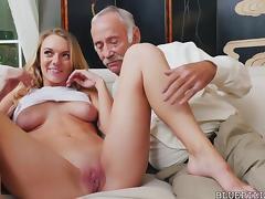 Grandfather, Cum in Mouth, Fucking, Grandpa, Hardcore, Money