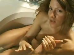 Horny pornstar Raquel Ride in hottest handjobs, cumshots xxx scene