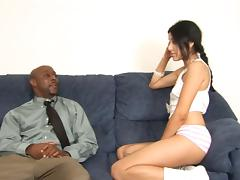 Big ebony pecker is just the thing that Monica's pussy needed!