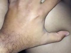 Nylon Pussy Grope