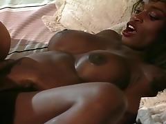 Ebony Chick Gets Fucked With A Dildo