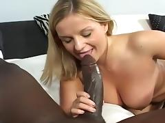 Huge Black Cock Nuts In Blonde's Eye
