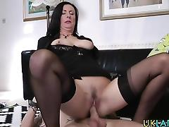 British heeled mature cum