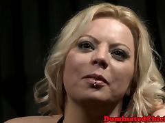 Bigtit slave nippletormented by cruel master