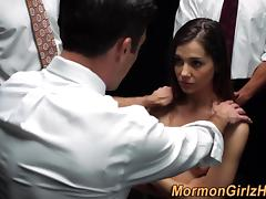 Mormons face cum blessed