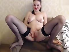 Depraved bitch Missslady fucks herself in front of webcam