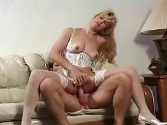 Blond MILF Mia Takes Some Rough Anal Sex