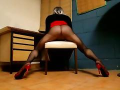 tx-red in pantyhose