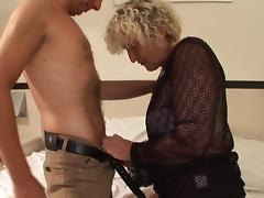 Naughty blonde bint Femke has her pussy pounded hard