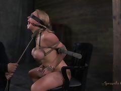 Big tits bondage doll face fucked in hardcore BDSM