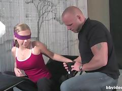 Hairless, Blindfolded, Couple, Curvy, Cute, Drilled