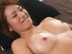 Seductive compilations shoot of Asian dame giving huge dick titjob