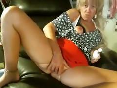 Blond Granny on the Webcam