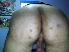 Spanish Handsome Boy Cums Super Hot Bubble Hairy Ass On Cam