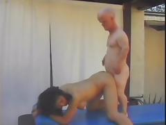 Midget fucks Asian woman