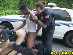 Cop, Cop, Femdom, Fucking, Interracial, Mistress